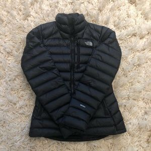 Black The North Face 800 Down Puffer Jacket